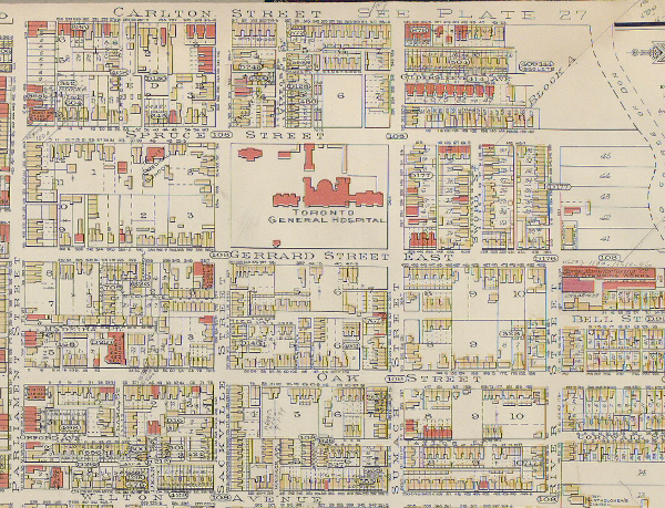 Goad Atlas 1893 showing hospital grounds
