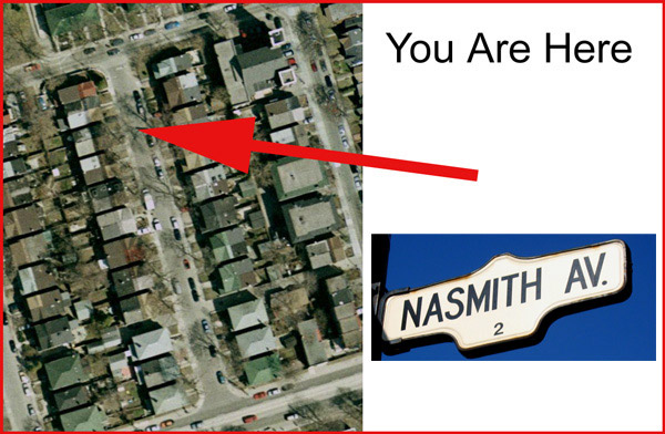 You are here - Nasmith Avenue